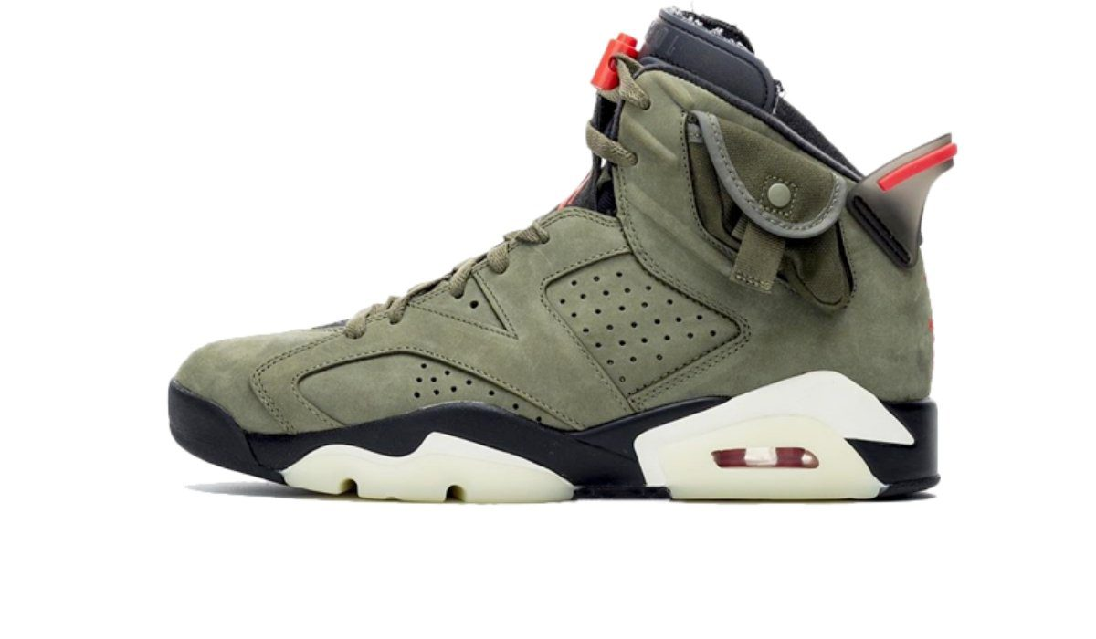 "Travis Scott x Air Jordan 6 ""Medium Olive"""
