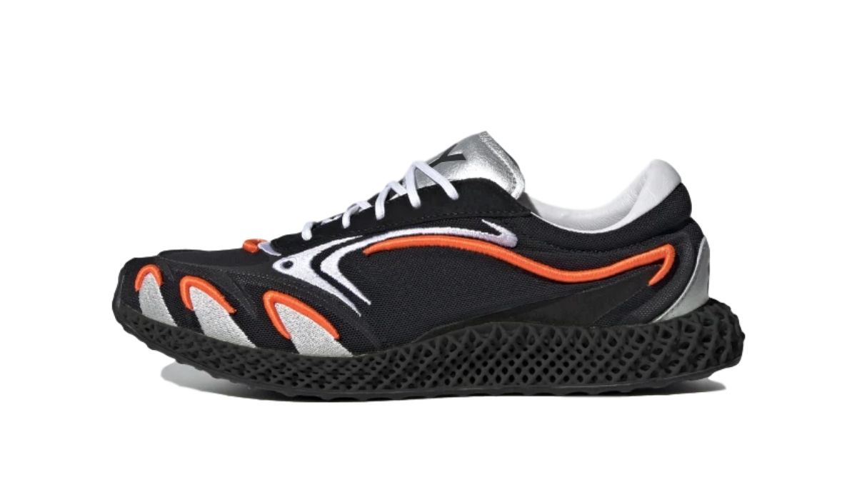 adidas Y-3 Runner 4D Black/Solar Orange