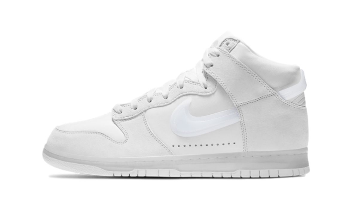 Slam Jam x Nike Dunk High Clear White