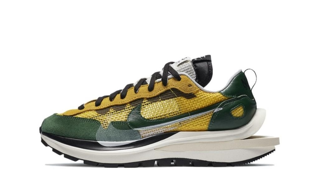 Sacai vaporwaffle green yellow